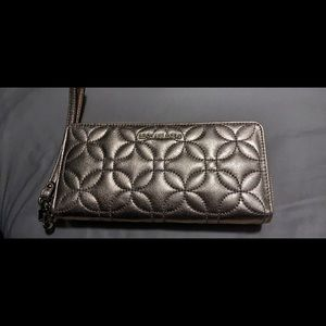 Michael Kors floral quilted wallet